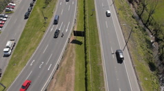 Aerial Image of a Road - 002 Stock Footage