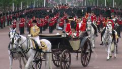 Queen Elizabeth at Buckingham Palace - stock footage