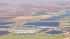 Valley of Jezreel from Mt. Gilboa Stock Footage