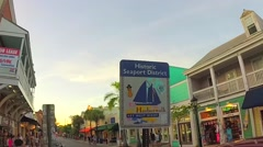 Historic shopping district sign on duval street key west florida keys Stock Footage