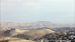 Judean Desert. View from Mount Scopus. Jerusalem. Israel Stock Footage