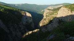 Timelapse sunrise in the mountains Grand Canyon of Crimea, Crimea, Russia Stock Footage