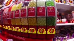 Jelly belly jelly beans in all flavors in sugar it candy store on duval stree Stock Footage
