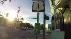 Mile marker zero on us 1 in key west florida keys Stock Footage