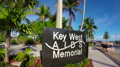 aids memorial in key west florida - stock footage