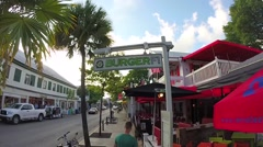Burger fi cafe on duval street in key west florida Stock Footage
