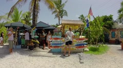 Robbies tourists shopping for souveniers in islamorada in the florida keys Stock Footage