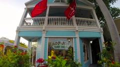 ron jon surf shop in key west florida keys - stock footage