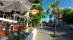 The hard rock cafe on duval street in key west florida Stock Footage
