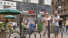 Game Stop New York City NYC Tourists Herald Square Manhattan Stock Footage