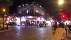 The bull and whistle bar on duval street corner in key west florida keys Stock Footage