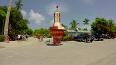 Robbies buoy marker sign in islamorada in the florida keys Stock Footage