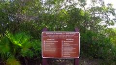 National key deer refuge sign on big pine key in the florida keys Stock Footage