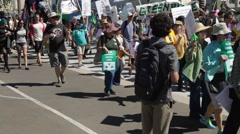 March for Climate change 9-21-14 Stock Footage