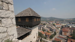 Fortress of Doboj in Bosnia and Herzegovina Stock Footage