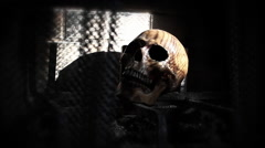 Dungeon of Death | skull in the shadows Stock Footage