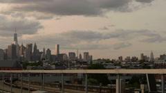 Manhattan Skyline New York City Subway NYC Empire State Building - stock footage