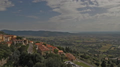 val di Chiana overview from Cortona Italy - stock footage