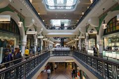 Updated view of the interior of victoria mall in sydney australia - stock photo