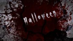 Happy Halloween Blood Splats Stock Footage