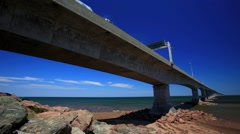 Time lapse of Confederation Bridge Canada Stock Footage