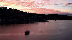 Time lapse of Beautiful morning view of Hvar island in Croatia Stock Footage