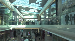 Shopping Mall Blurred Stock Footage