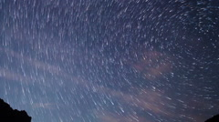 Star tracks. Zoom. Time Lapse Stock Footage