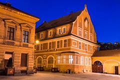 medieval architecture, brasov, romania - stock photo