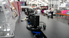 Costco Shopping (customers out of focus) Stock Footage