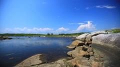 Time lapse of pond near Halifax Nova Scotia Stock Footage