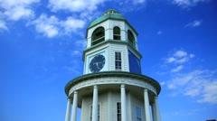 Citadel Clock Tower Halifax Stock Footage