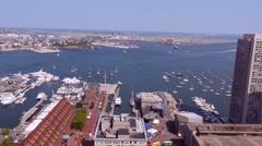 4K Long Wharf Boston Harbor Stock Footage