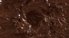 4K Close up of dark chocolate swirl animated. Stock Footage