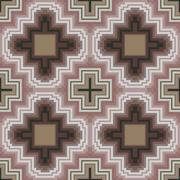 Seamless pattern in soft cocoa hues Stock Illustration