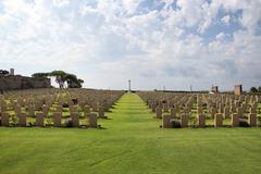 anzio war memorial - stock photo