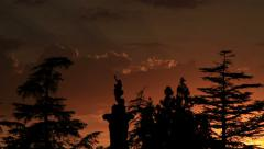 Roman Cemetery Sunset Timelapse Stock Footage