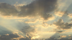 Heavenly Sun Rays Timelapse Stock Footage