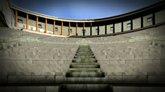 Ancient theater in Pompei - stock footage
