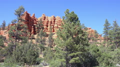 Landscape Bryce Canyon southern Utah mountain 4K 167 Stock Footage