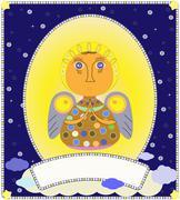 Christmas angel vector Stock Illustration