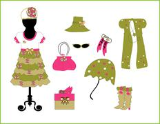 Children's fashion and accessories vector Piirros