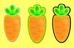 carrots vector - stock illustration