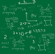 mathematics background vector - stock illustration