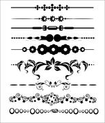 ornamental and page decoration design elements - stock illustration