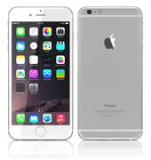 New silver iphone 6 plus - stock illustration