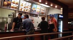 people ordering food inside kfc store - stock footage