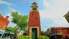 Time lapse of clock tower and street traffic in Niagara on the Lake area. Stock Footage