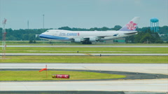 China Airlines Cargo Boeing 747 in Atlanta ATL Stock Footage