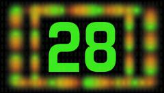 Thirty Second Countdown Timer With Exciting Visual Effects Stock Footage